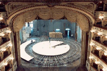 Palcoscenico girevole Teatro Comunale di Ferrara